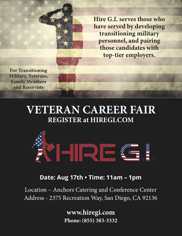 VETERAN CAREER FAIR – (AUGUST 17, 2017)
