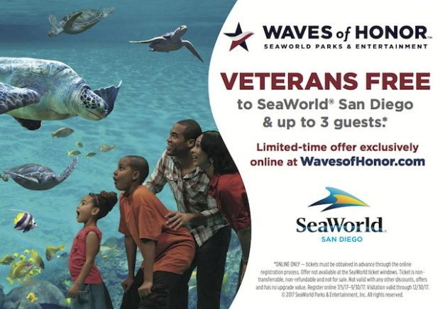 SEAWORLD SAN DIEGO HONORS U.S. MILITARY VETERANS