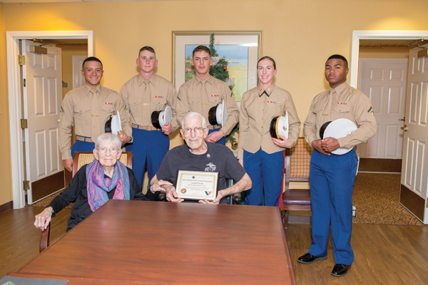 Silver Star recipient receives Honor Salute by Camp Pendleton Marines